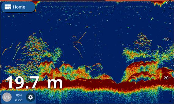 Immagine della TrueEcho CHIRPTM (con trasduttore da Airmar TM150M)