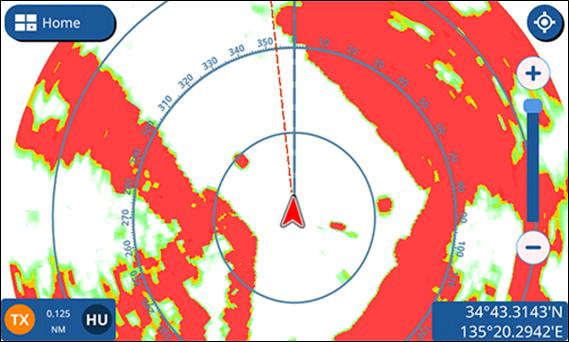 Immagine del Radar display full screen